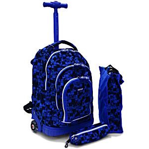 Школьный рюкзак на колесах – ранец JWORLD POLYPOP арт. RBS-16SPK Shadow Puzzle