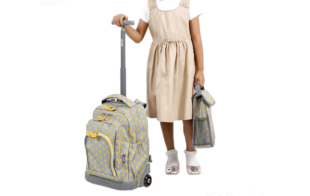 Школьный рюкзак на колесах JWORLD SUNNY Цветочки , - фото 8