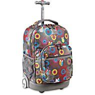 Универсальный школьный рюкзак на колесах JWORLD Sunrise арт. RBS18 Сова