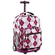 Универсальный школьный рюкзак на колесах JWORLD Sunrise арт. RBS18 Фиолетовые Ромбы