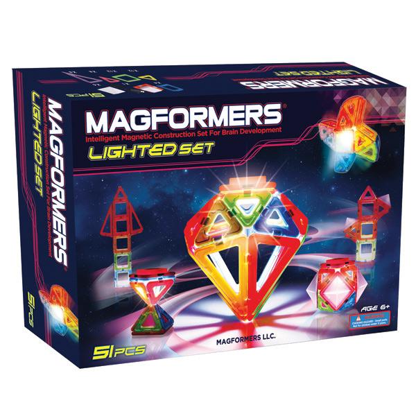 Магнитный конструктор Магформерс Светодиод 55 деталей артикул 63092, - фото 1