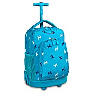 Универсальный школьный рюкзак на колесах JWORLD Sunrise арт. RBS18 Puppy