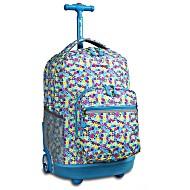 Универсальный школьный рюкзак на колесах JWORLD Sunrise арт. RBS18 Незабудки
