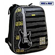Рюкзак школьный Mike&Mar Майк Мар Гитара сер/желтый 1008-68