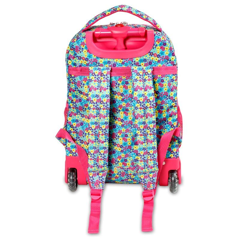 Школьный рюкзак на колесах JWORLD SUNNY Цветочки , - фото 3