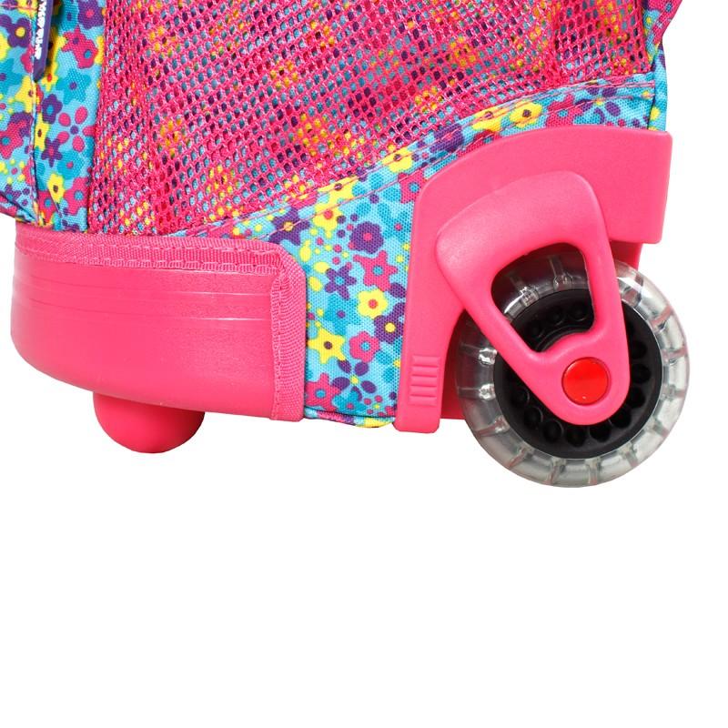 Школьный рюкзак на колесах JWORLD SUNNY Цветочки , - фото 7