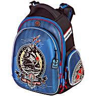 Облегченный ранец для первоклассника Hummingbird TK26 Корабль с мешком для обуви + пенал