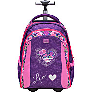 Рюкзак на колесах с выдвижной ручкой Belmil Роза 338-45/655 Rose